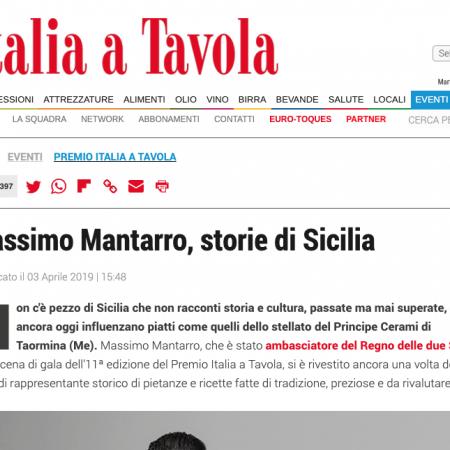 Massimo Mantarro, storie di Sicilia